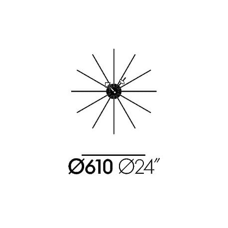 dimensions Star Clock - vitra - George Nelson -  - Furniture by Designcollectors