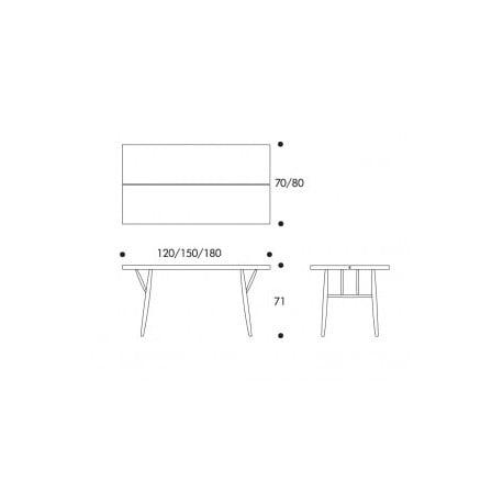 dimensions Pirkka Table - Artek - Ilmari Tapiovaara - Dining Tables - Furniture by Designcollectors