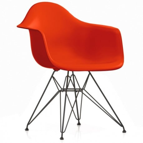 Eames Plastic Armchair DAR without upholstery - vitra - Charles & Ray Eames - Dining Chairs - Furniture by Designcollectors