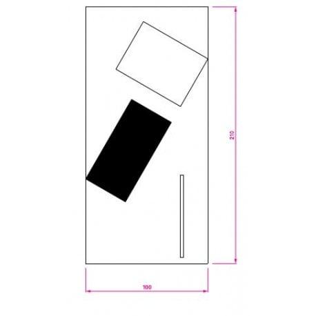 dimensions Bonaparte Rug - Classicon - Eileen Gray - Textiles - Furniture by Designcollectors