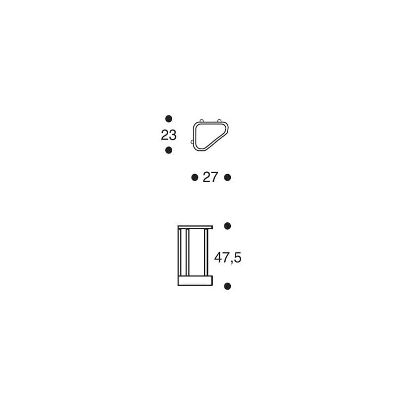 dimensions Umbrella Stand 115 - midnight blue - artek - Alvar Aalto - Storage & Shelves - Furniture by Designcollectors