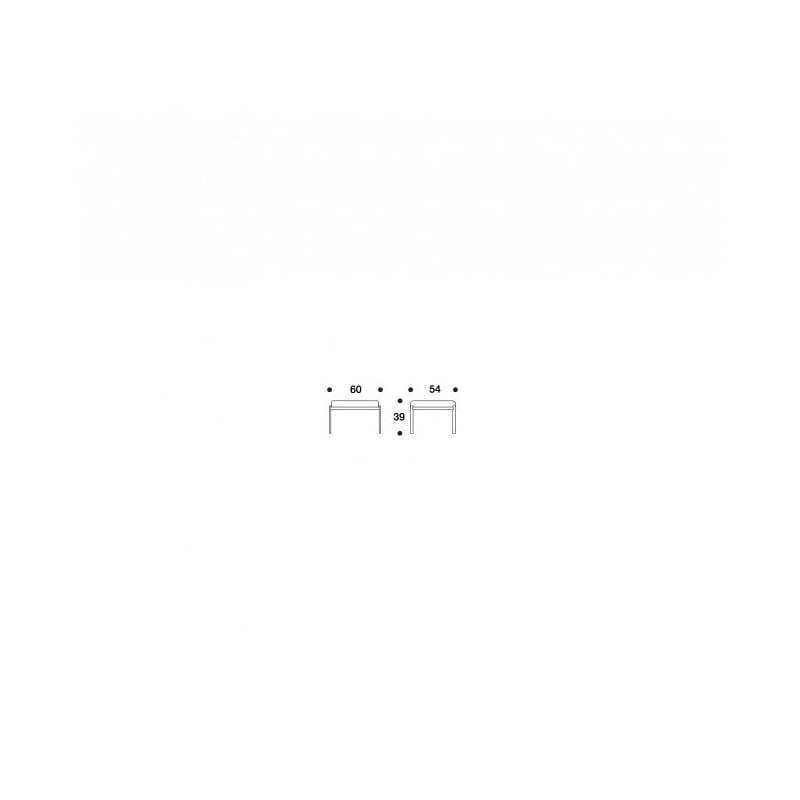 dimensions Kiki Bench - Hallingdal upholstery - artek - Ilmari Tapiovaara - Home - Furniture by Designcollectors
