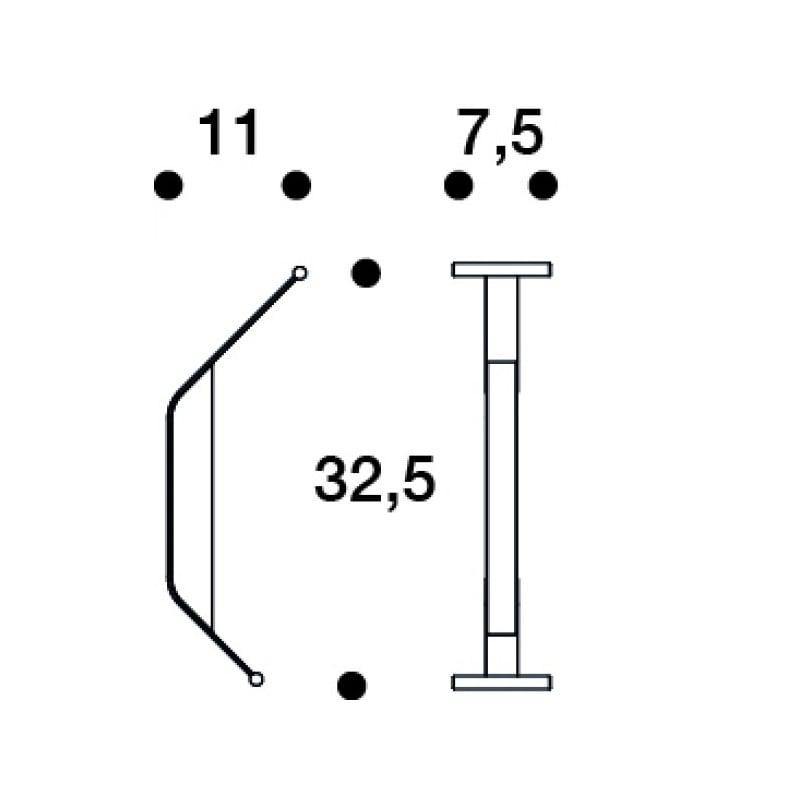dimensions REB 014 Kaari Wall Hook - artek - Ronan and Erwan Bouroullec -  - Furniture by Designcollectors