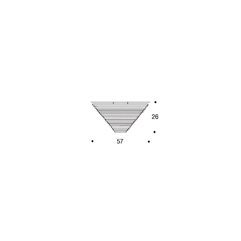 dimensions A622A, B Ceiling Light - artek - Alvar Aalto - Lighting - Furniture by Designcollectors