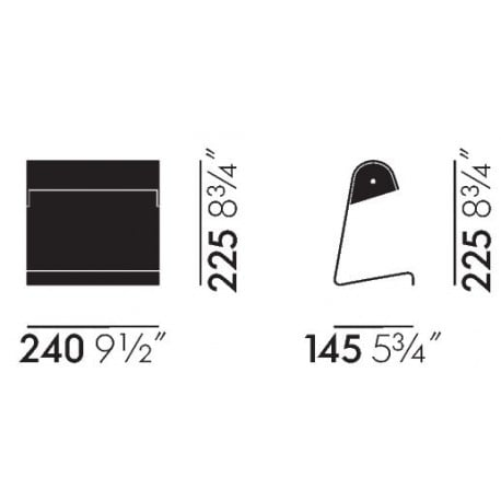 dimensions Prouvé RAW Lampe de Bureau - vitra - Jean Prouvé - Lighting - Furniture by Designcollectors