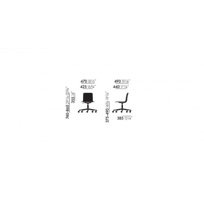 dimensions HAL Chair Studio - vitra - Jasper Morrison - Chairs - Furniture by Designcollectors