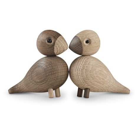 Lovebirds, 2 pcs., light and dark - Kay Bojesen - Kay Bojesen - Gifts - Furniture by Designcollectors