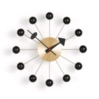 Ball Clock - Black/Brass
