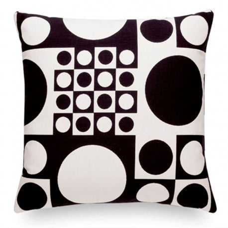 Classic Pillows Maharam - Geometri Black/White - Vitra - Verner Panton - Textiles - Furniture by Designcollectors