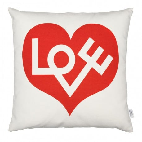 Graphic Print Pillow: Love, red - Vitra - Alexander Girard - Home - Furniture by Designcollectors
