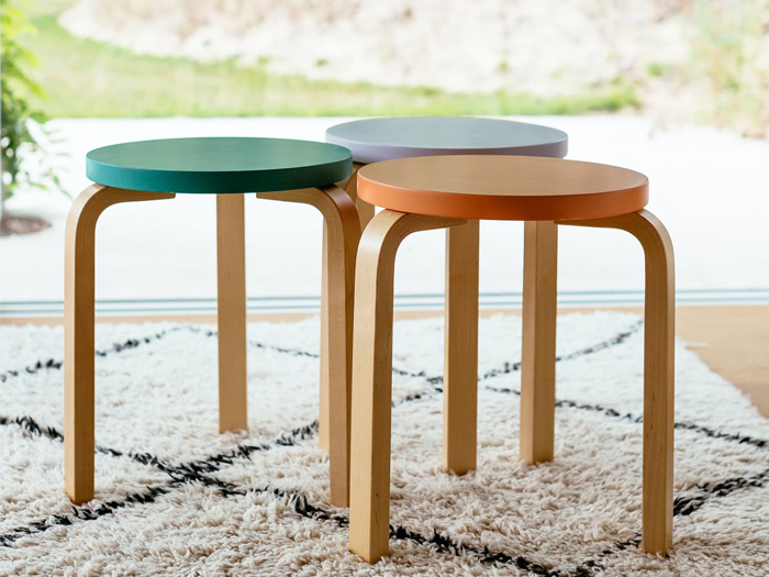 special edition of Alvar Aalto's iconic stools 60 and E60